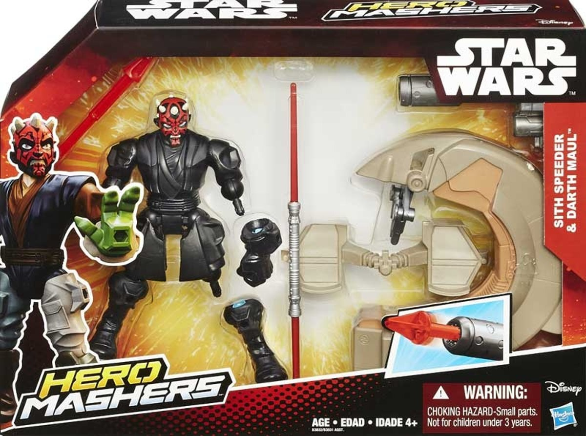 STAR WARS HERO MASHERS SPEEDERS ASST