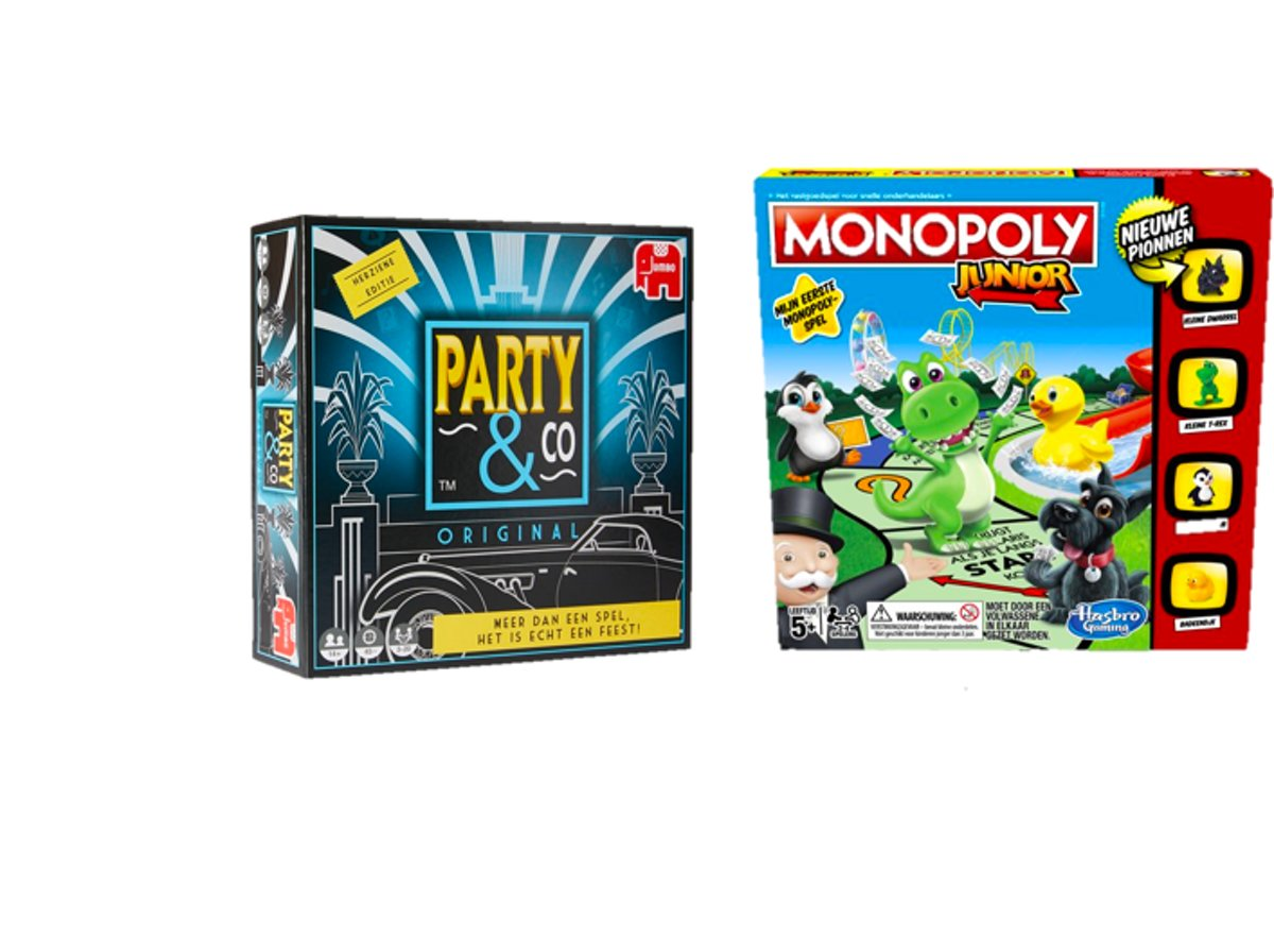 Spelvoordeelset Monopoly Junior - Bordspel & Party & Co Original - Gezelschapsspel