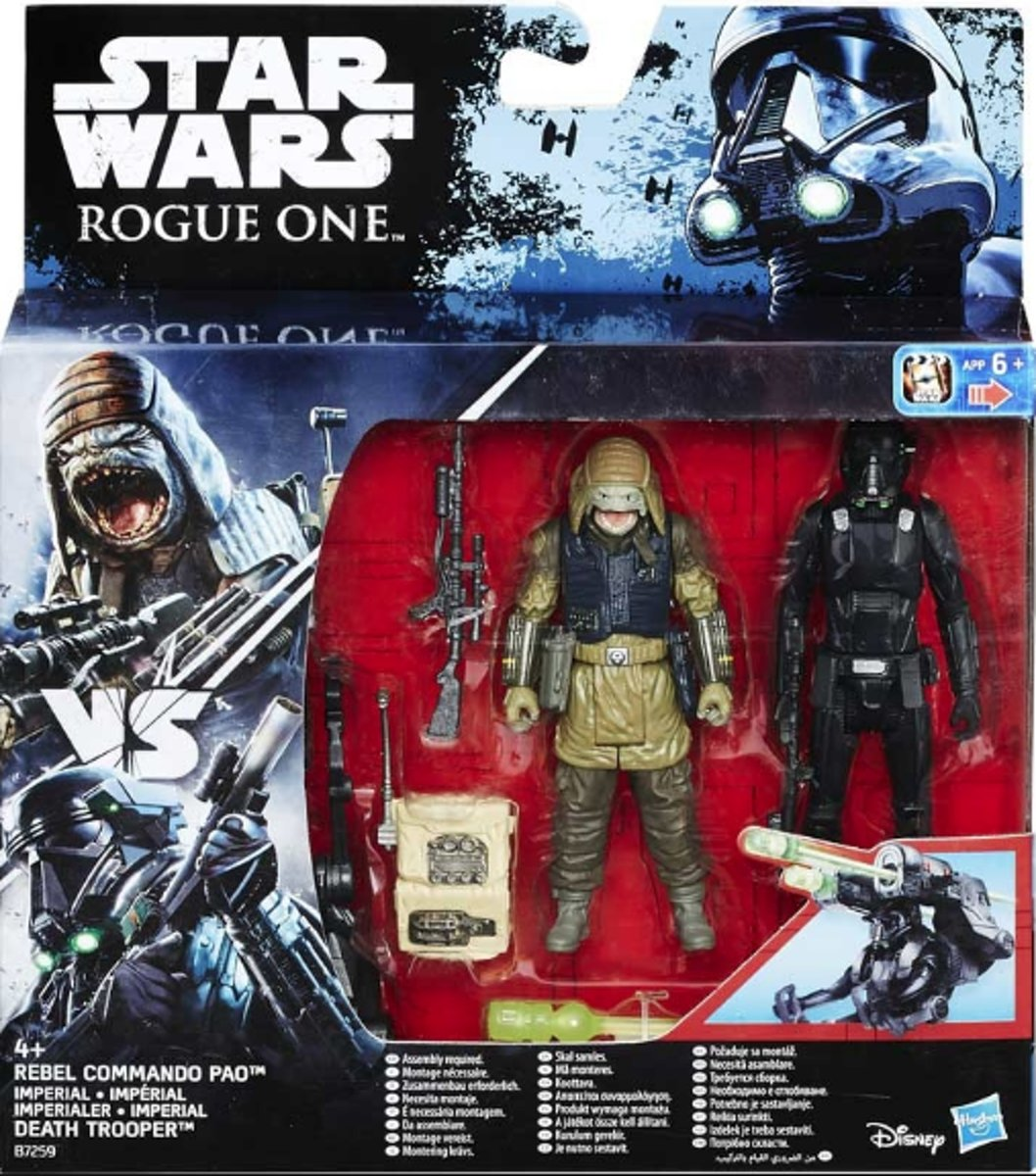 Star Wars Rogue One - Rebel Commando Pao + Death Trooper - Hasbro
