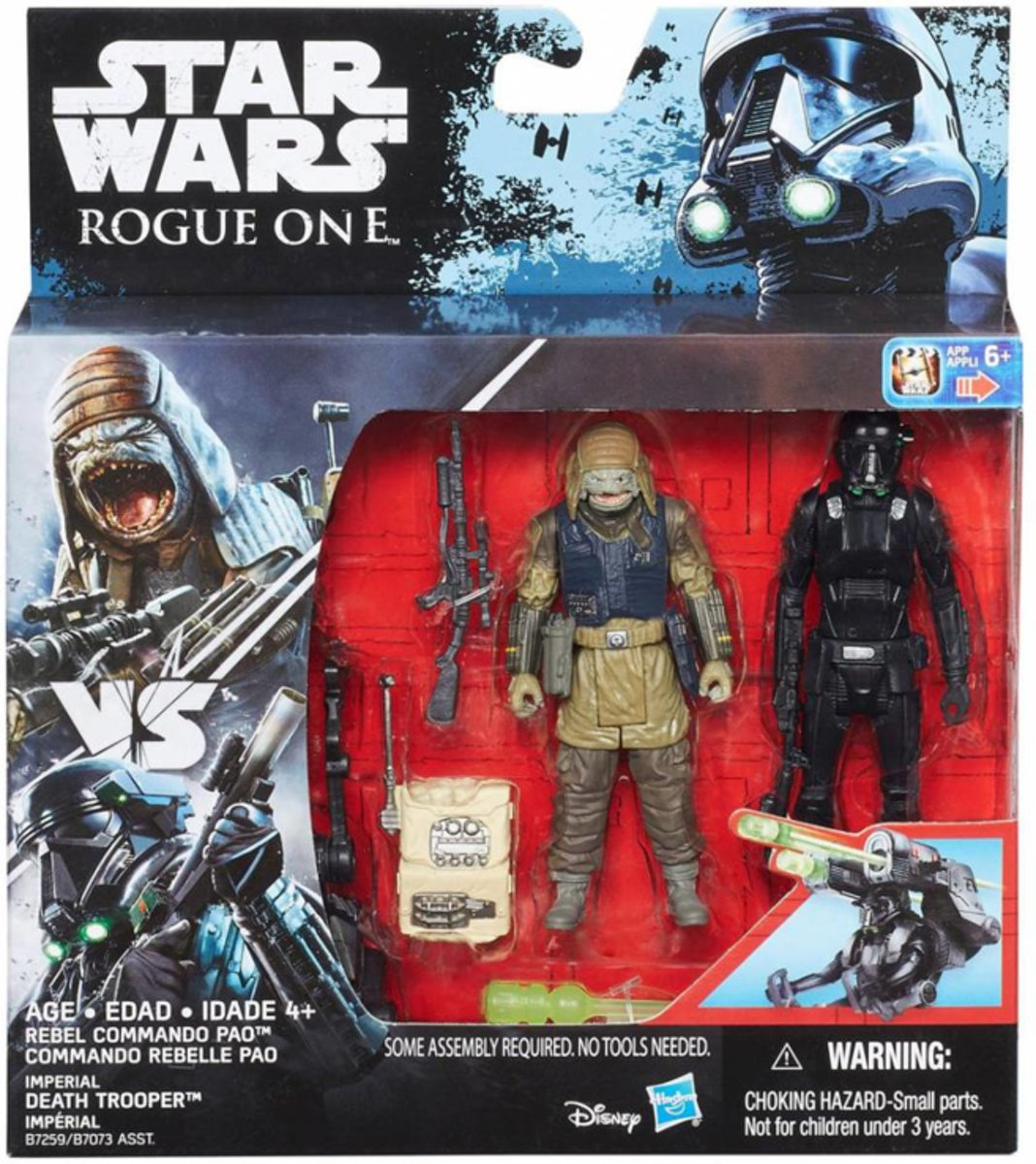Star Wars Rogue One - Rebel Commando Pao and Imperial Death Trooper