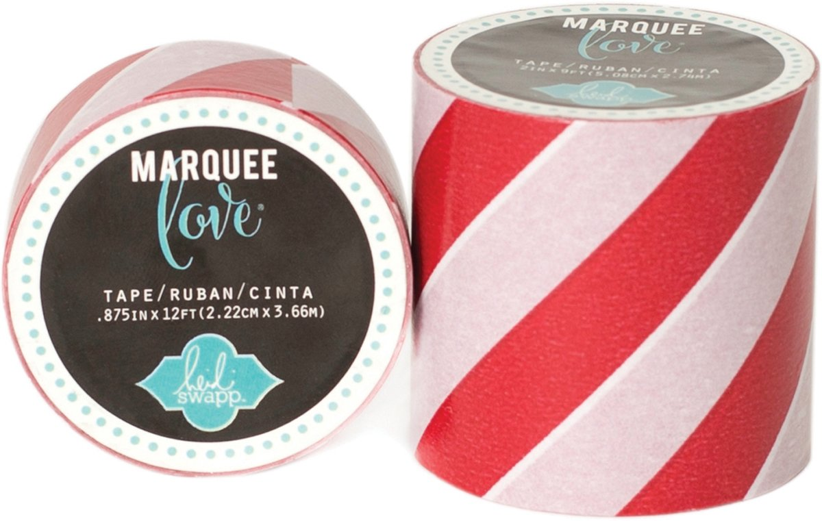 Washi Tape Rood met Strepen - 5.1 cm x 2.74 m