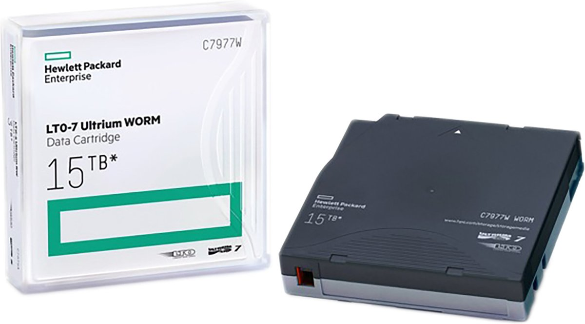 HPE LTO-7 Ultrium 15 TB WORM Data Cartridge C7977W
