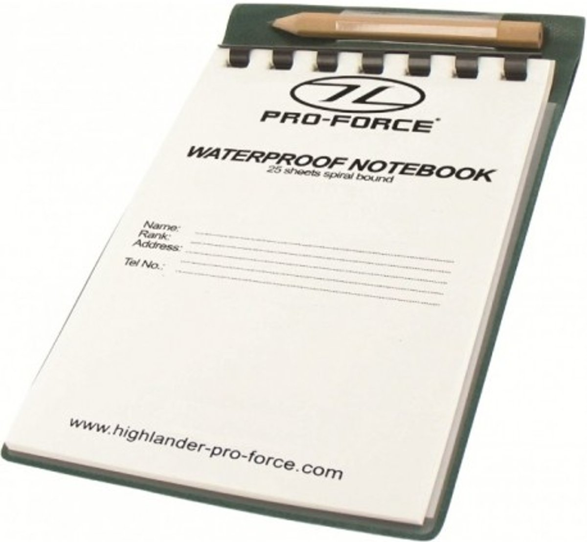 Highlander Waterproof Notebook 15X10.5Cm
