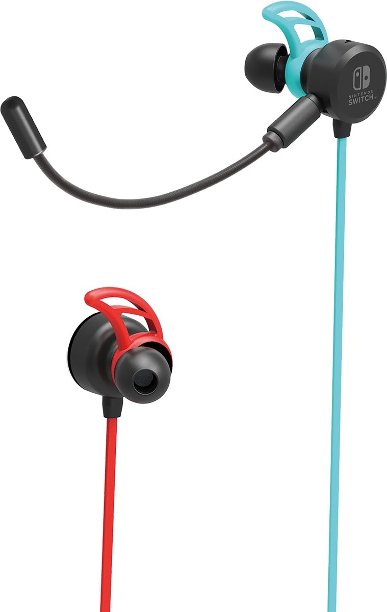 Hori Gaming Earbuds Pro - Neon Blauw/Rood - Nintendo Switch