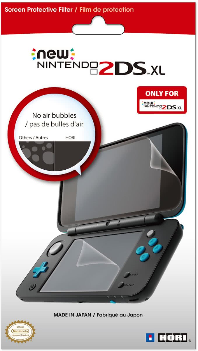 Hori Protective Filter - Official licensed - Transparant - New Nintendo 2DS XL