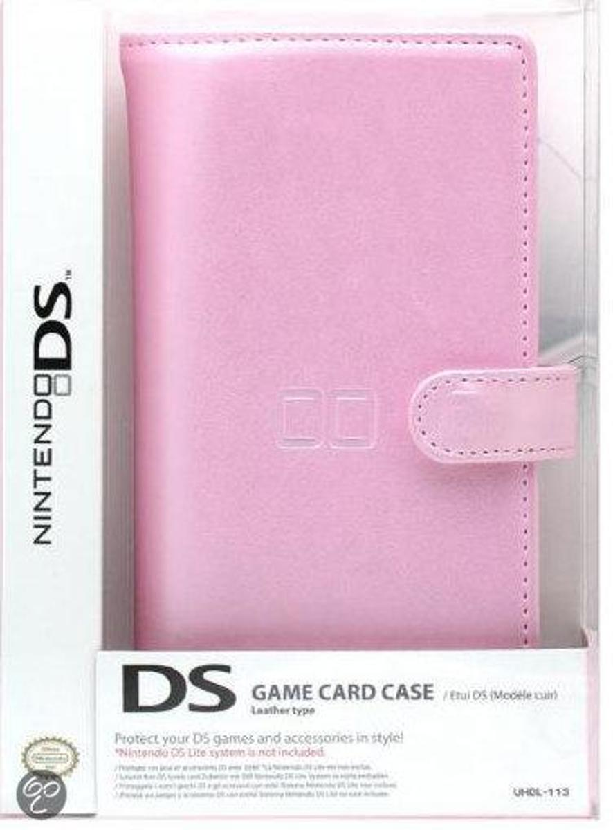 Nintendo DS LITE Official Game Card Case Leather Pink   UHDL-113