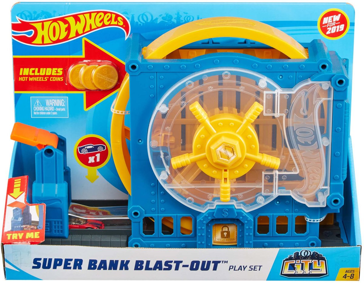 Hot Wheels City Super Bank Blast Out - Speelset