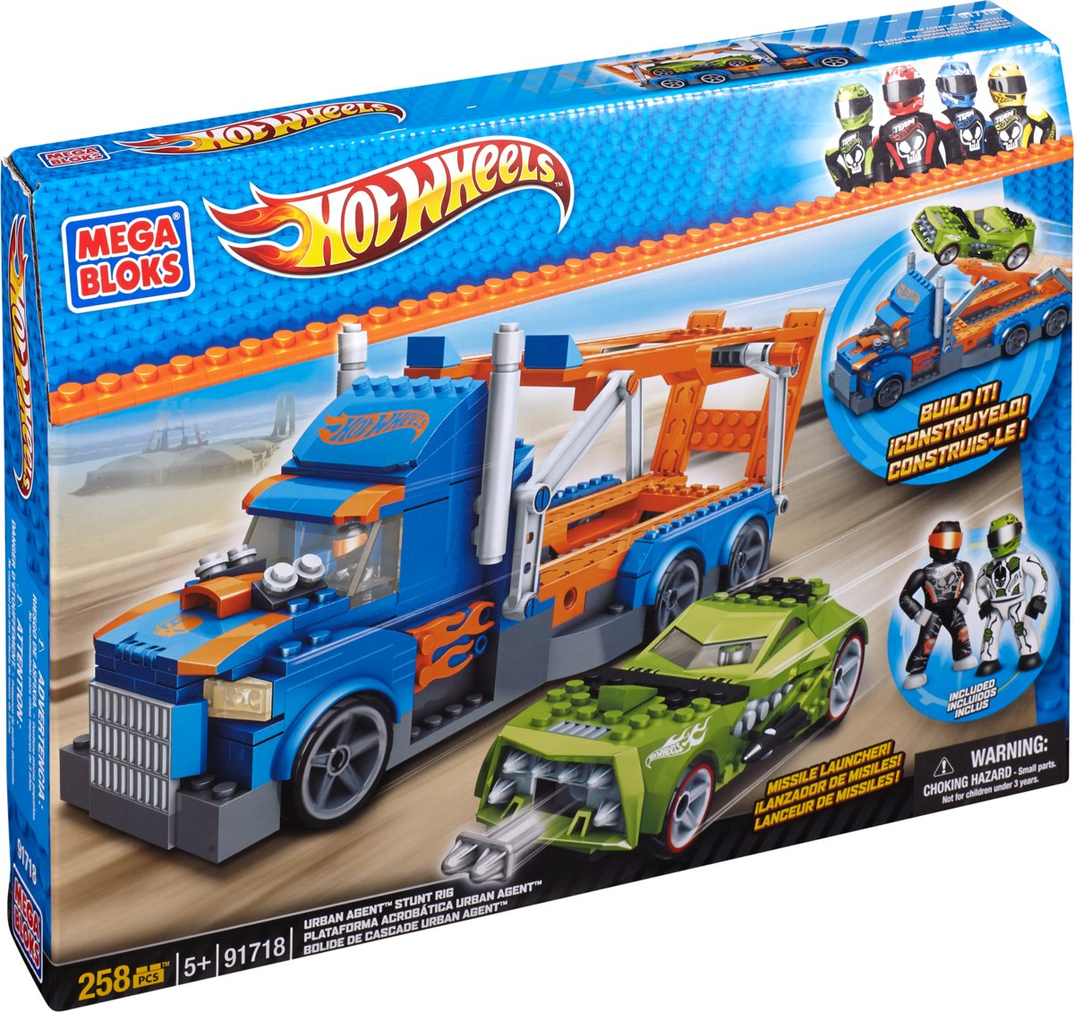 Mega Bloks Hot Wheels Urban Agent Escape Rig
