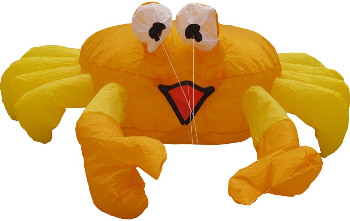 Hq Kites Bouncing Buddy Billy The Crab 124 Cm Oranje
