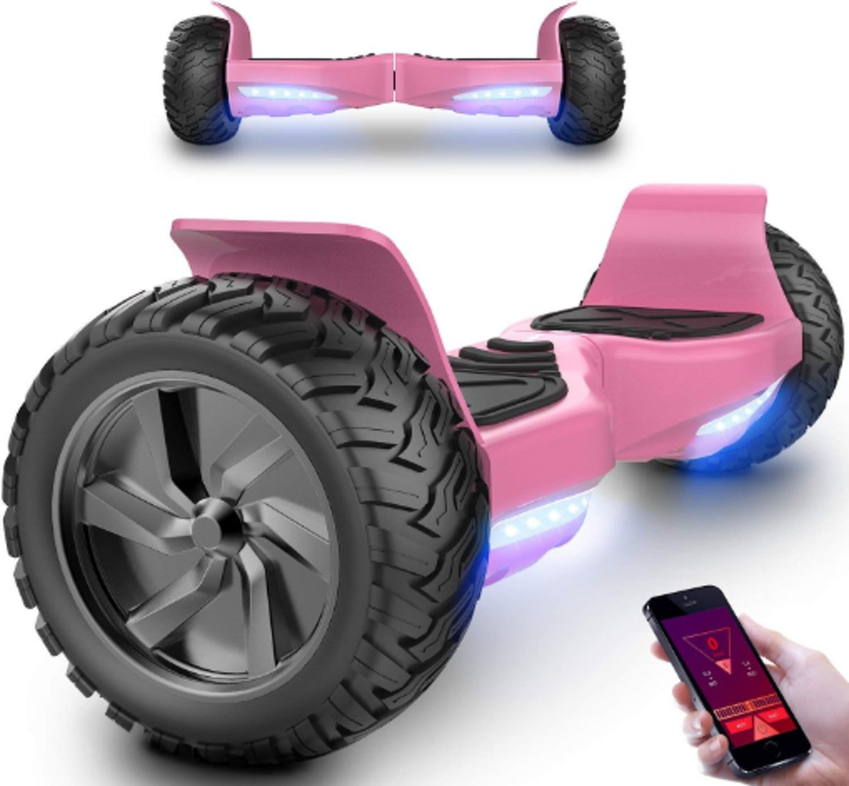 HOVERBOARD HUMMER Roze ALLE TERREINEN 8.5 INCHES Off Road App Functie met V5 Bluetooth speaker&TAOTAO 2018 SOFTWARE