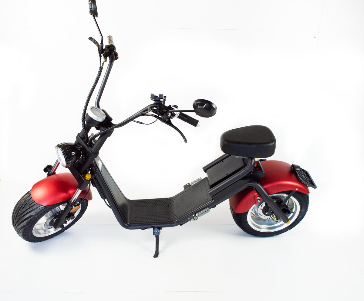 Stad scooter CITYCOCO,CITY COCO E-bike  ( E-Scooter Ebike 100% Elektrische Cool harley design met kenteken)
