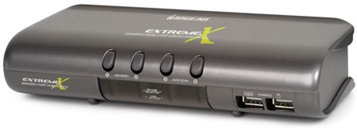 iogear MiniView Extreme Multimedia KVMP Switch w/Cables   Grijs