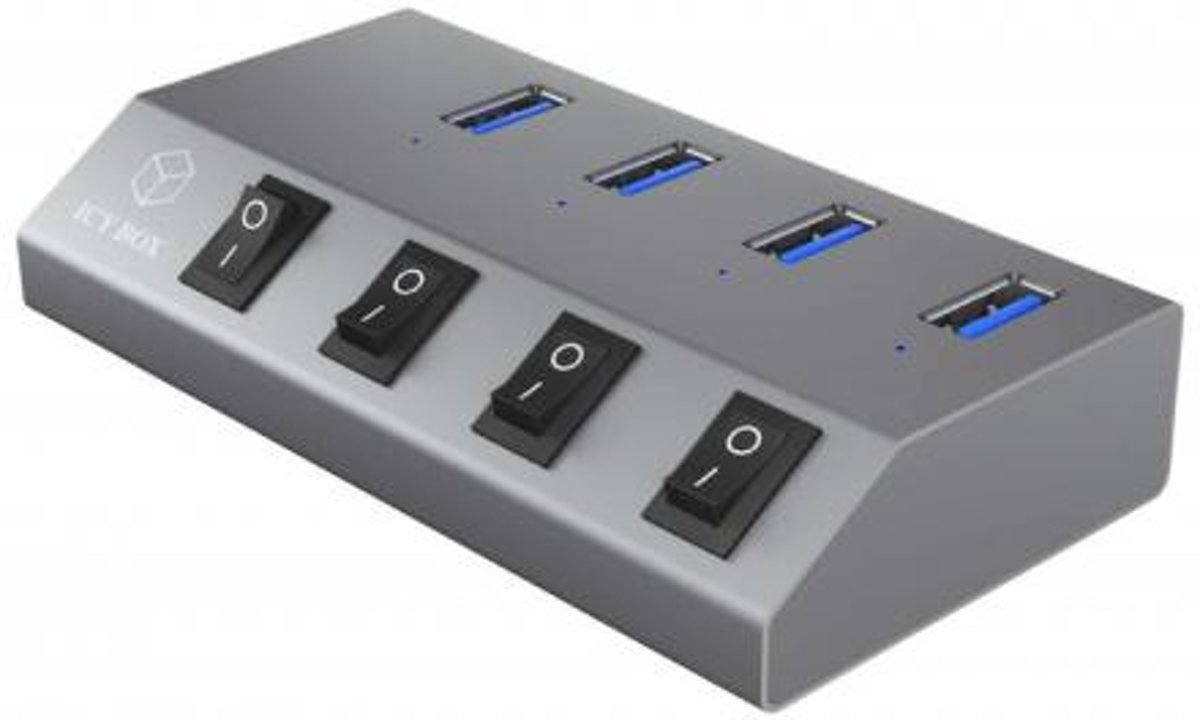 4-Port   USB 3.0 Anthracite