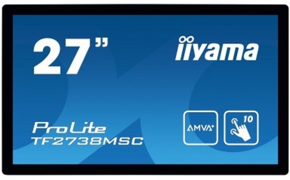 iiyama ProLite TF2738MSC-B1 touch screen-monitor 68,6 cm (27) 1920 x 1080 Pixels Zwart Multi-touch