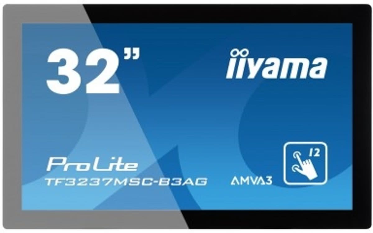 iiyama ProLite TF3237MSC-B3AG 31.5 1920 x 1080Pixels Multi-touch Capacitief Zwart touch screen-monitor