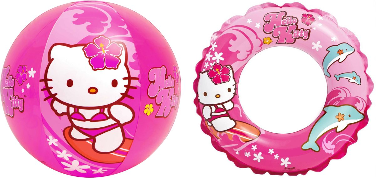 Hello Kitty set, strandbal en zwemband