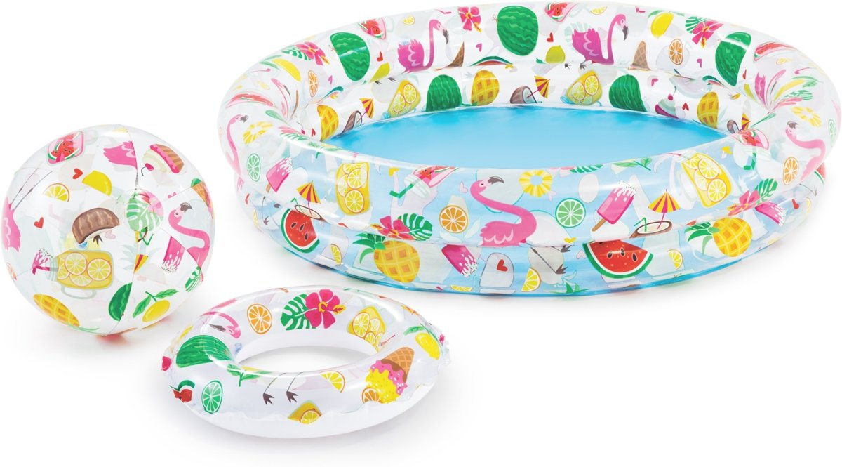 Intex 3-delig Zwembadset Just So Fruity Ø122 x 25 cm - Opblaaszwembad