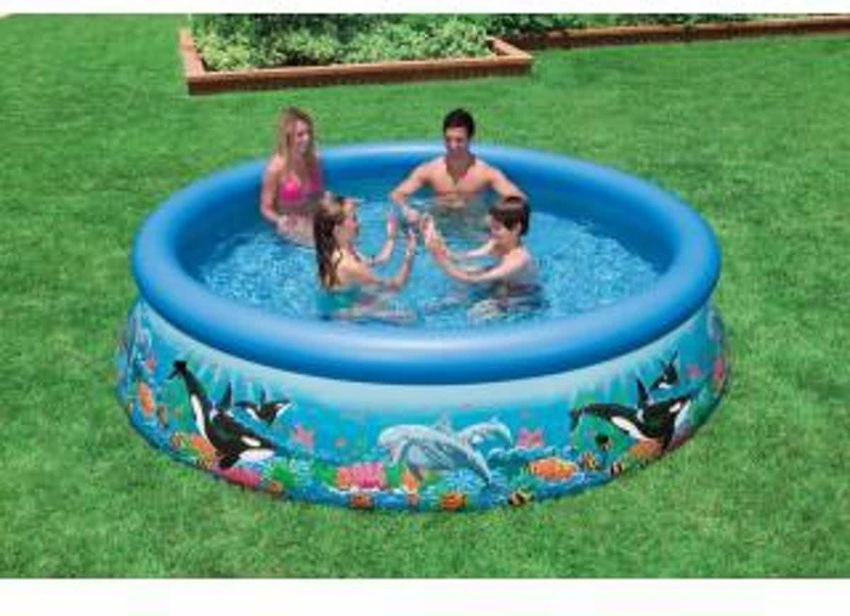 Intex Easy Set Pool Zwembad Ocean Reef - 366 x 76 - Zonder Pomp
