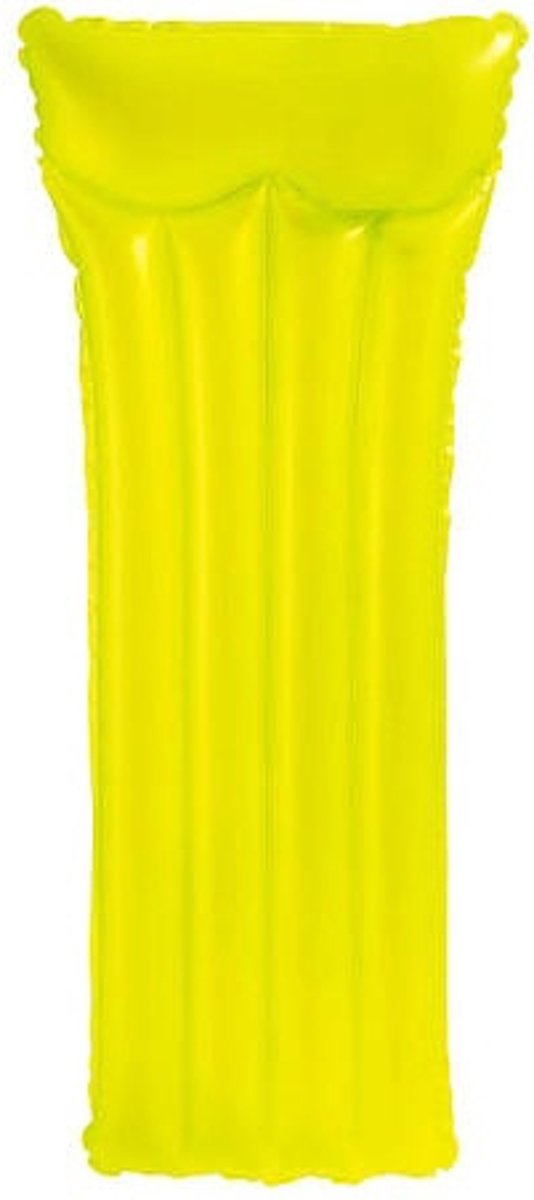 Neon frost luchtbed 183 x 76 cm geel