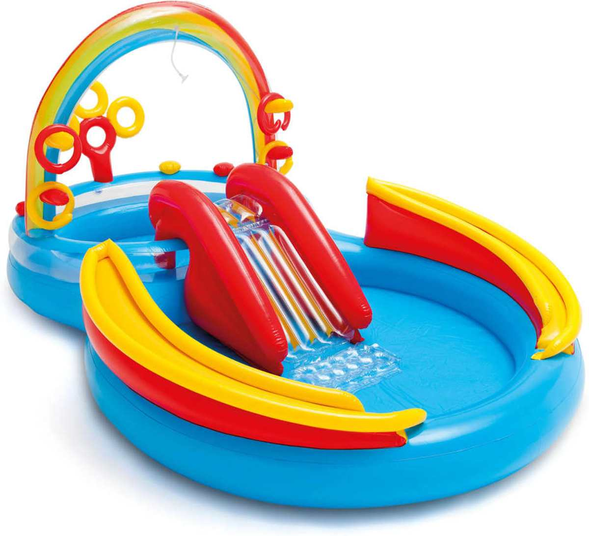 Intex Opblaaszwembad Rainbow Ring Play Center 297x193x135 cm 57453NP