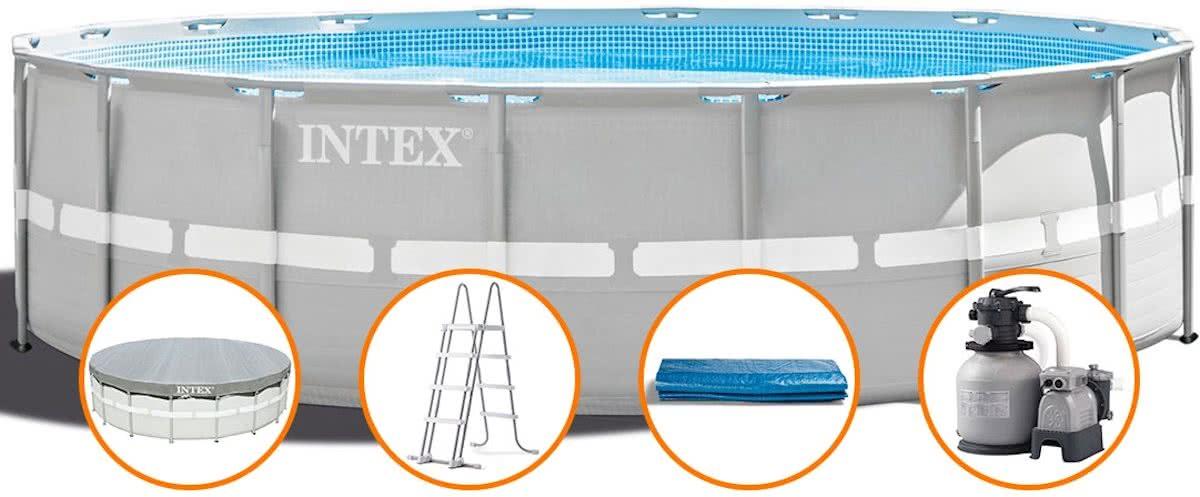 Intex rechthoekig frame pool zwembad 220x150x60 cm for Zwembad rechthoekig met pomp