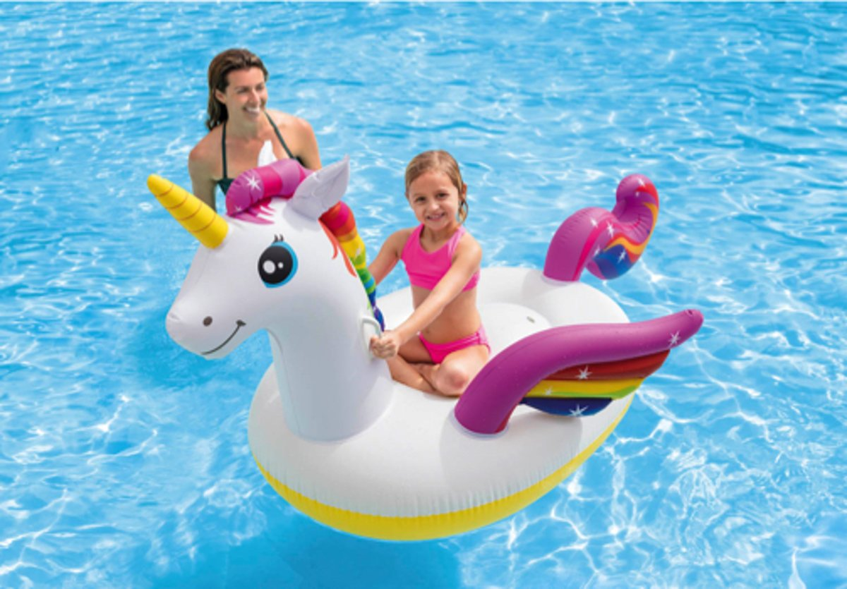 Intex ride-on eenhoorn unicorn opblaasbaar 198x140x97cm