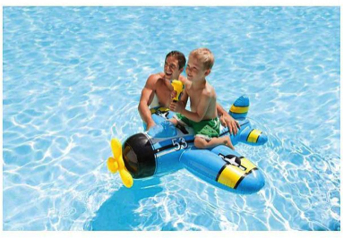 Intex vliegtuig met waterpistool - ride-on - 132x130 centimeter