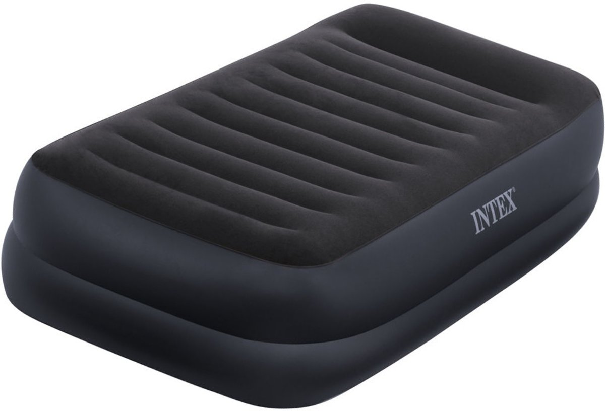 TWIN PILLOW REST RAISED AIRBED WITH FIBER-TECH BIP