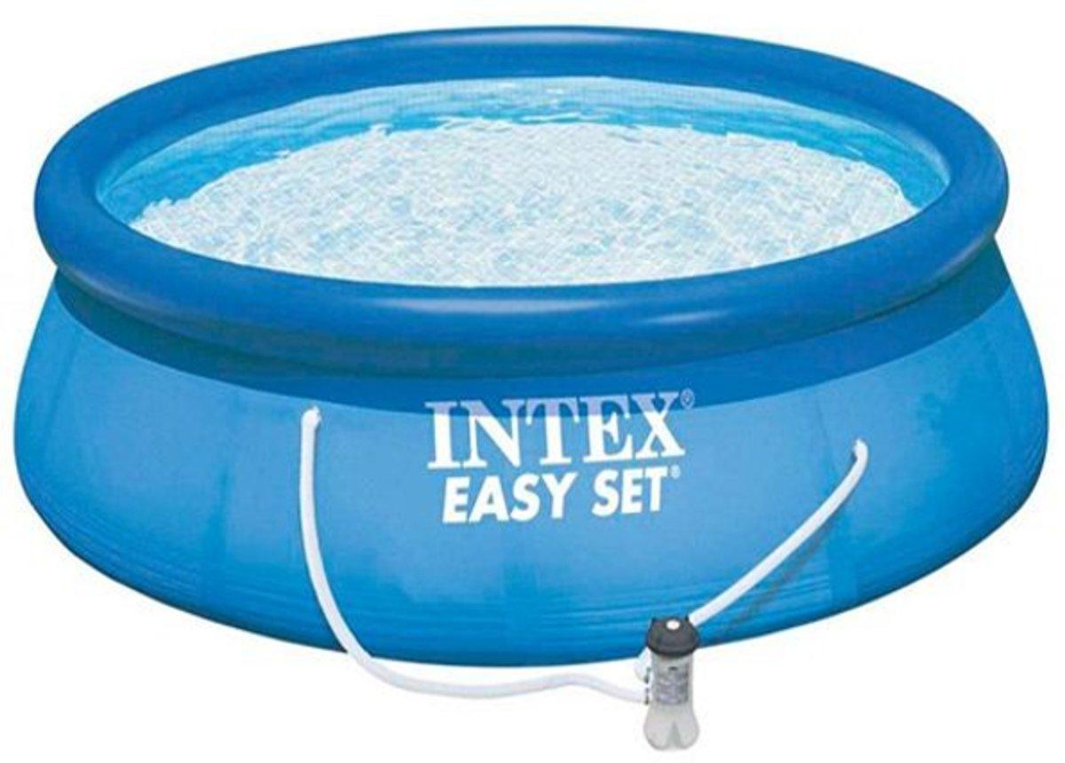 Intex rechthoekig frame pool zwembad 450x220x84 cm for Zwembad rechthoekig met pomp