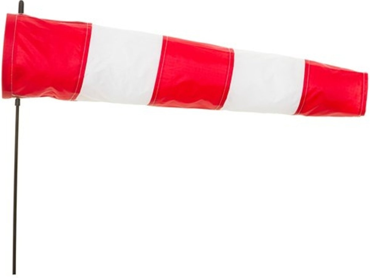 Windsock Airport 60 Cm Rood/wit