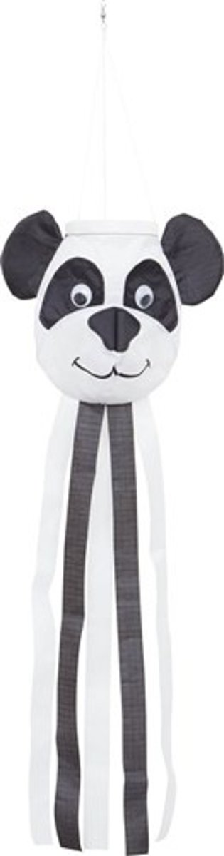 Windsock Little Panda 75 Cm Zwart/wit