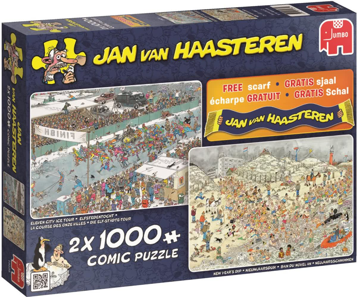 Winter fun 2in1 - Puzzel 2x 1000 stukjes