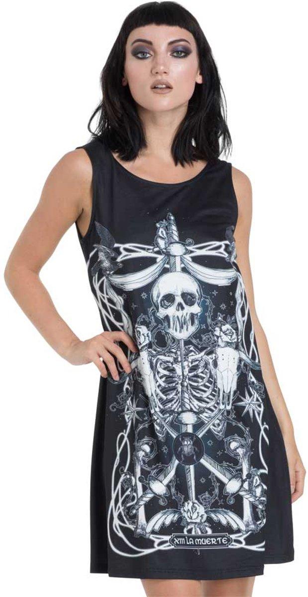 71fa0e52719886 Muerte Tarot korte jurk zwart - XL - Jawbreaker