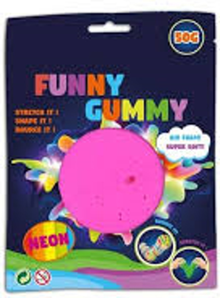 Funny Gummy bouncing airfoam putty, 50 gram, 6 kleuren