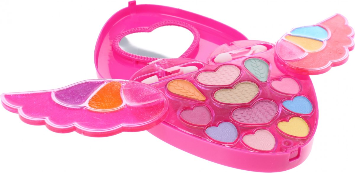 Johntoy Bella Make-up Set Hart Met Vleugels Roze