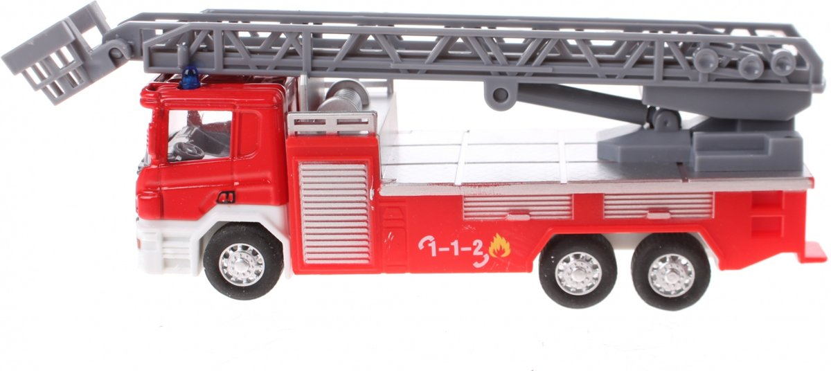 Johntoy Ladderwagen Super Cars 1:64 Rood