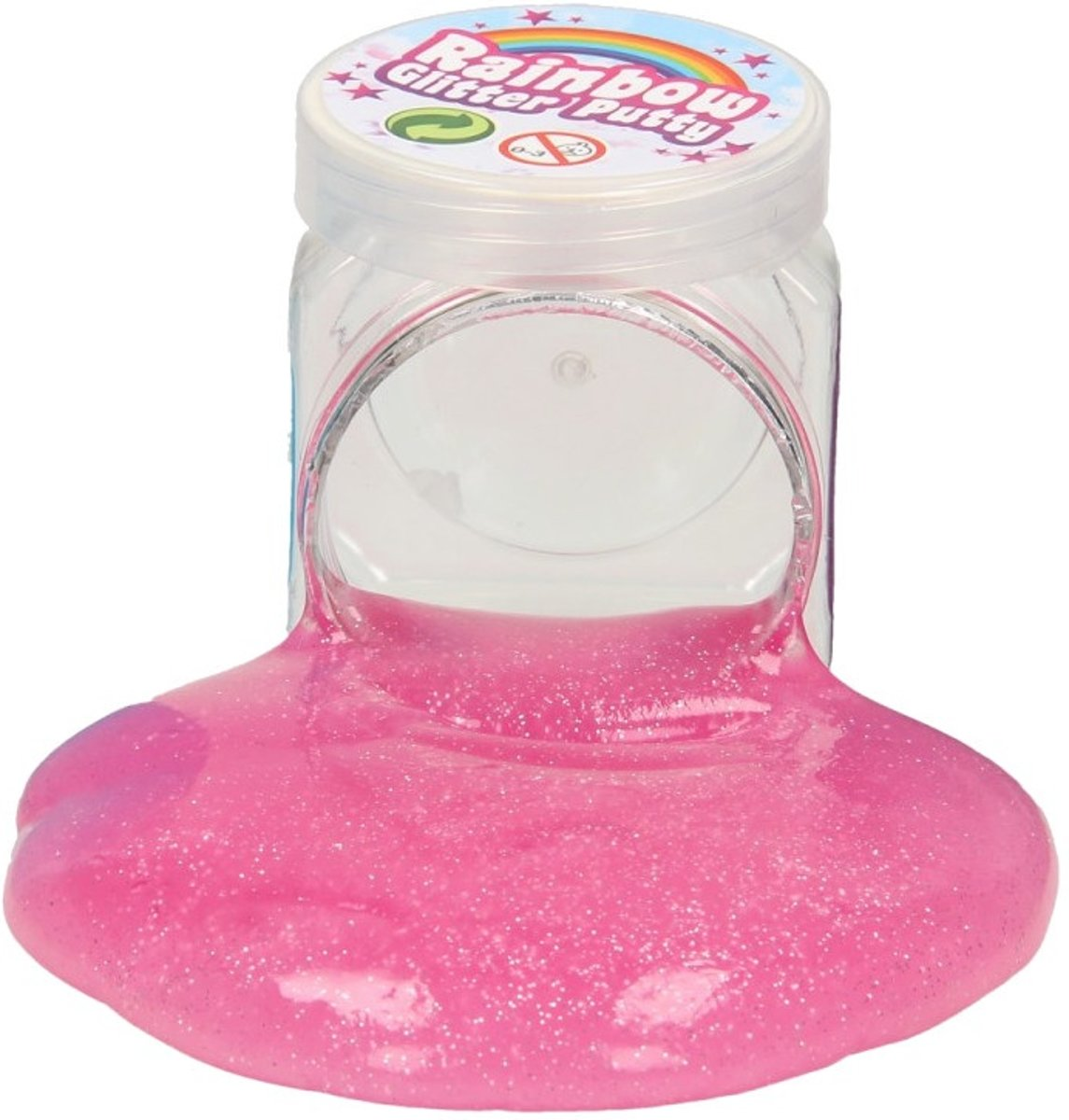 Rainbow Glitter Putty 6 Cm Roze