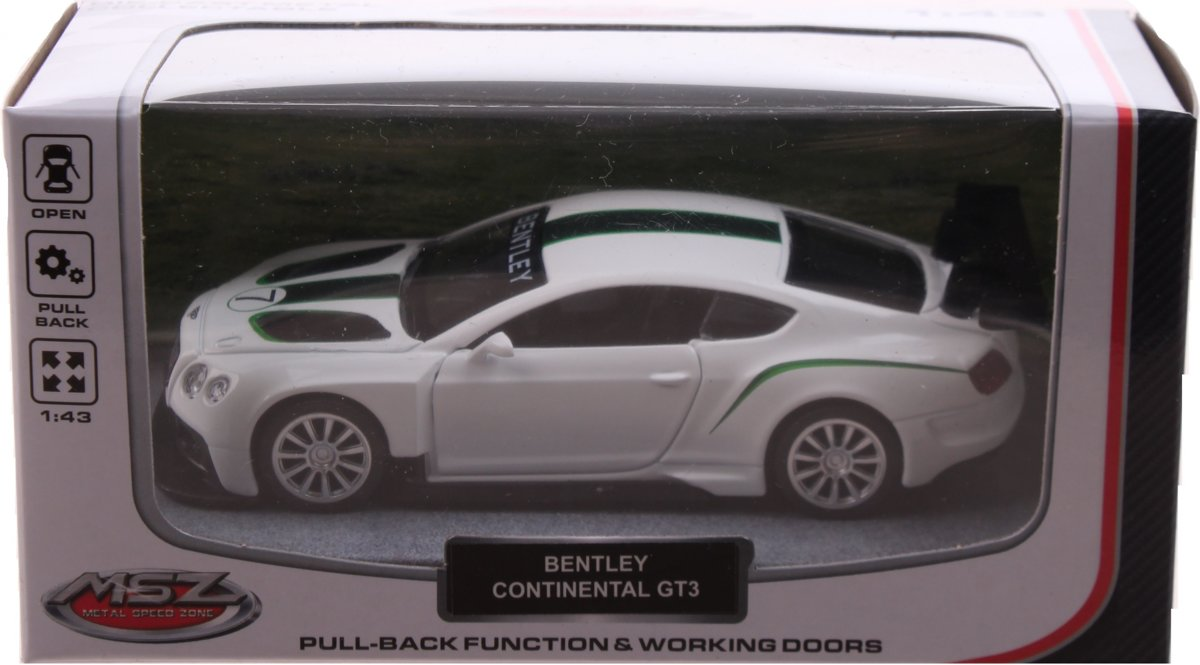 Johntoy Sportauto Schaalmodel 1:43 8 Cm Bentley Wit