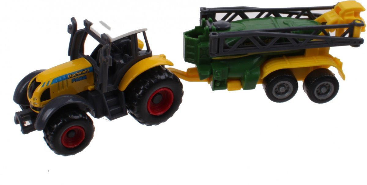 Johntoy Tractor Geel Die-cast 3-delig Farm Masters