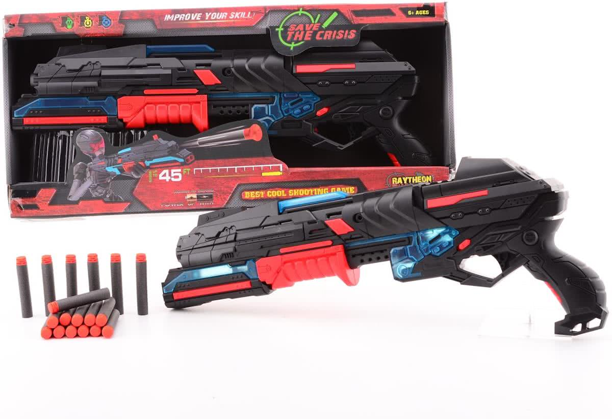 Serve and protect shooter large 50 met 10 darts