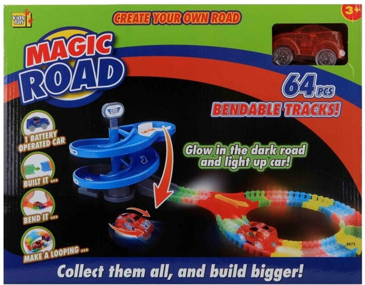 Magic Road 64-delig Rood