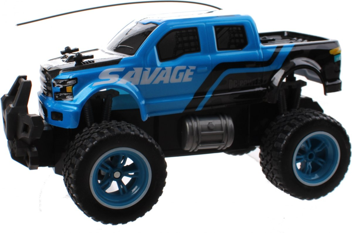 Rc Monstertruck Big Wheel 25 Cm Blauw