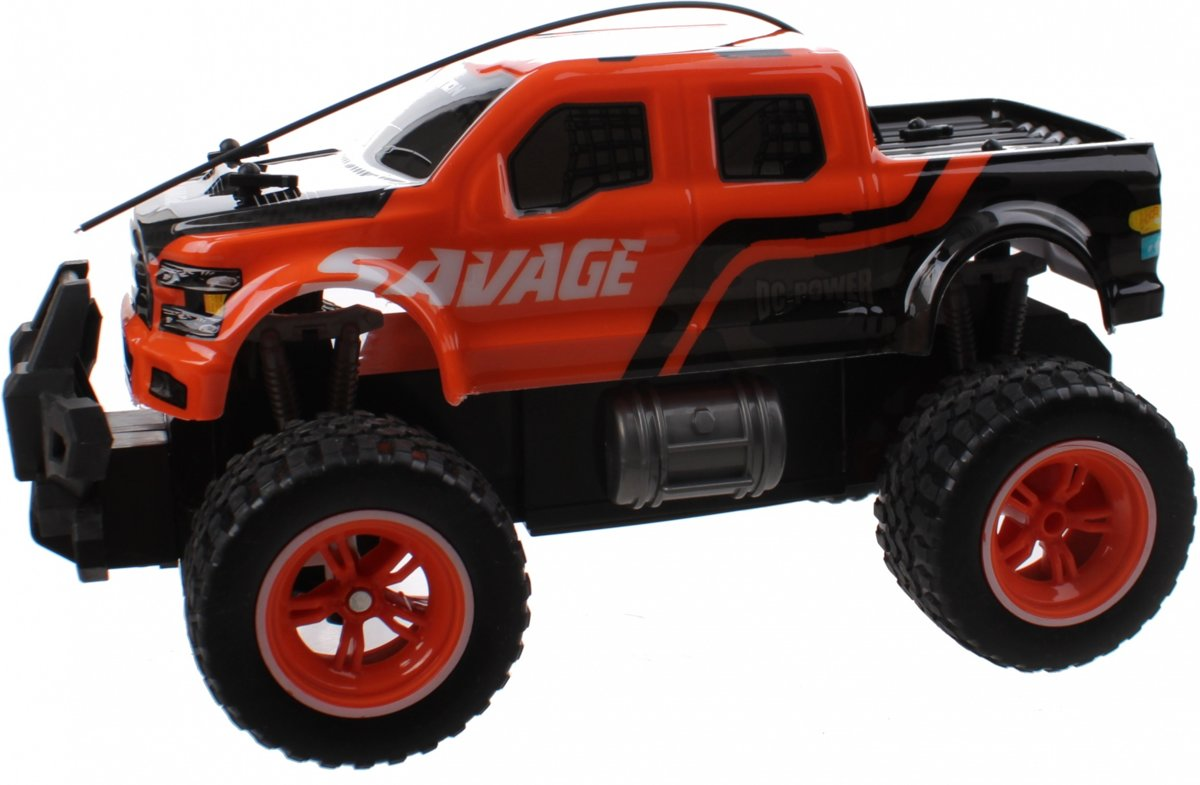 Rc Monstertruck Big Wheel 25 Cm Oranje