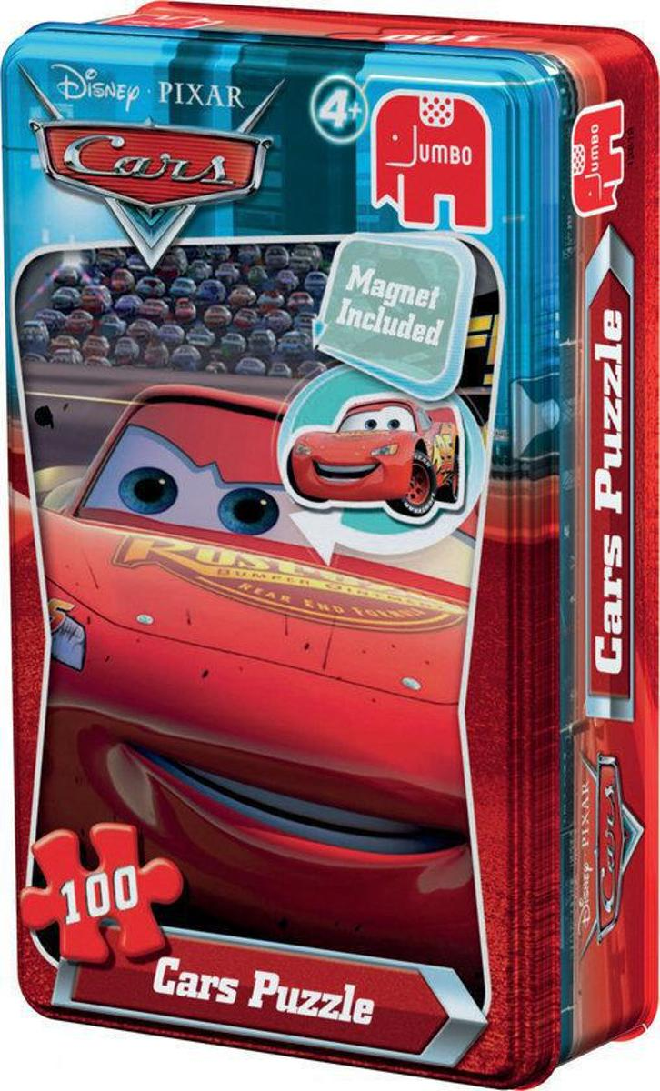 Disney Cars Puzzel In Blik