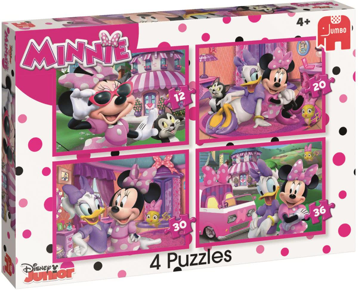 Disney Minnies happy helpers - Set van 4 puzzels met 12, 20, 30 en 36 stukjes
