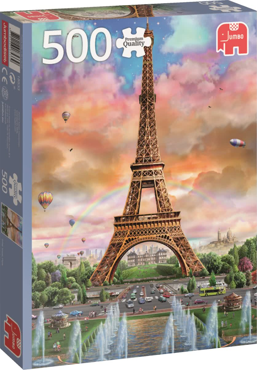 Eiffel Tower France Puzzel 500 stukjes