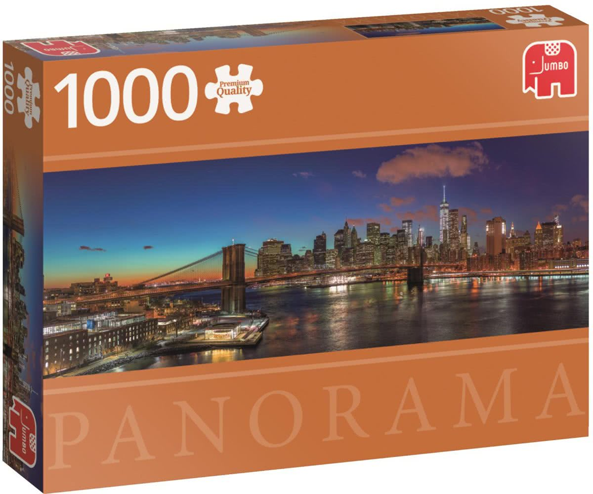 Hudson Bridge New York Premium Quality - Puzzel 1000 stukjes