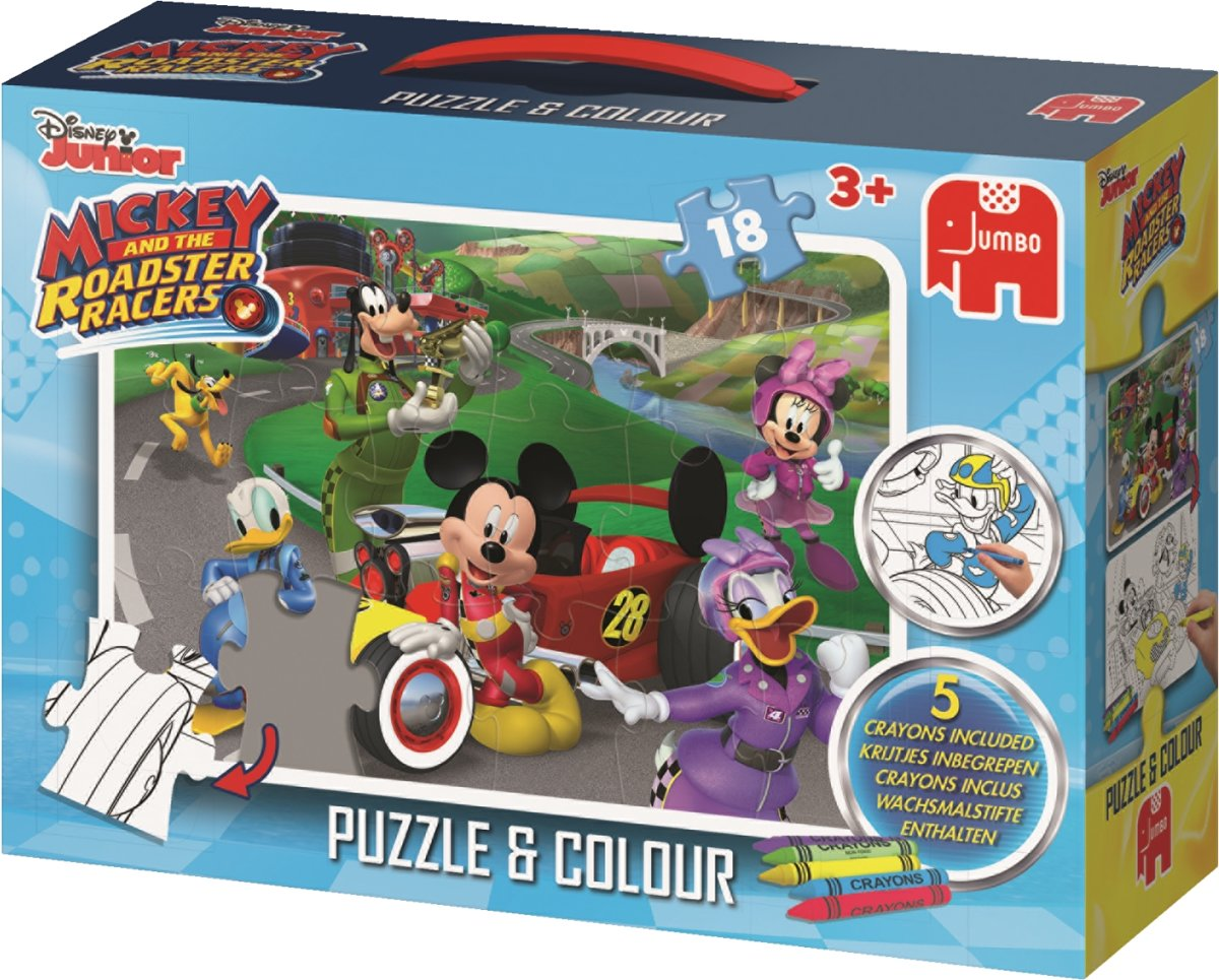 Mickey RR Puzzle&Colour Medium