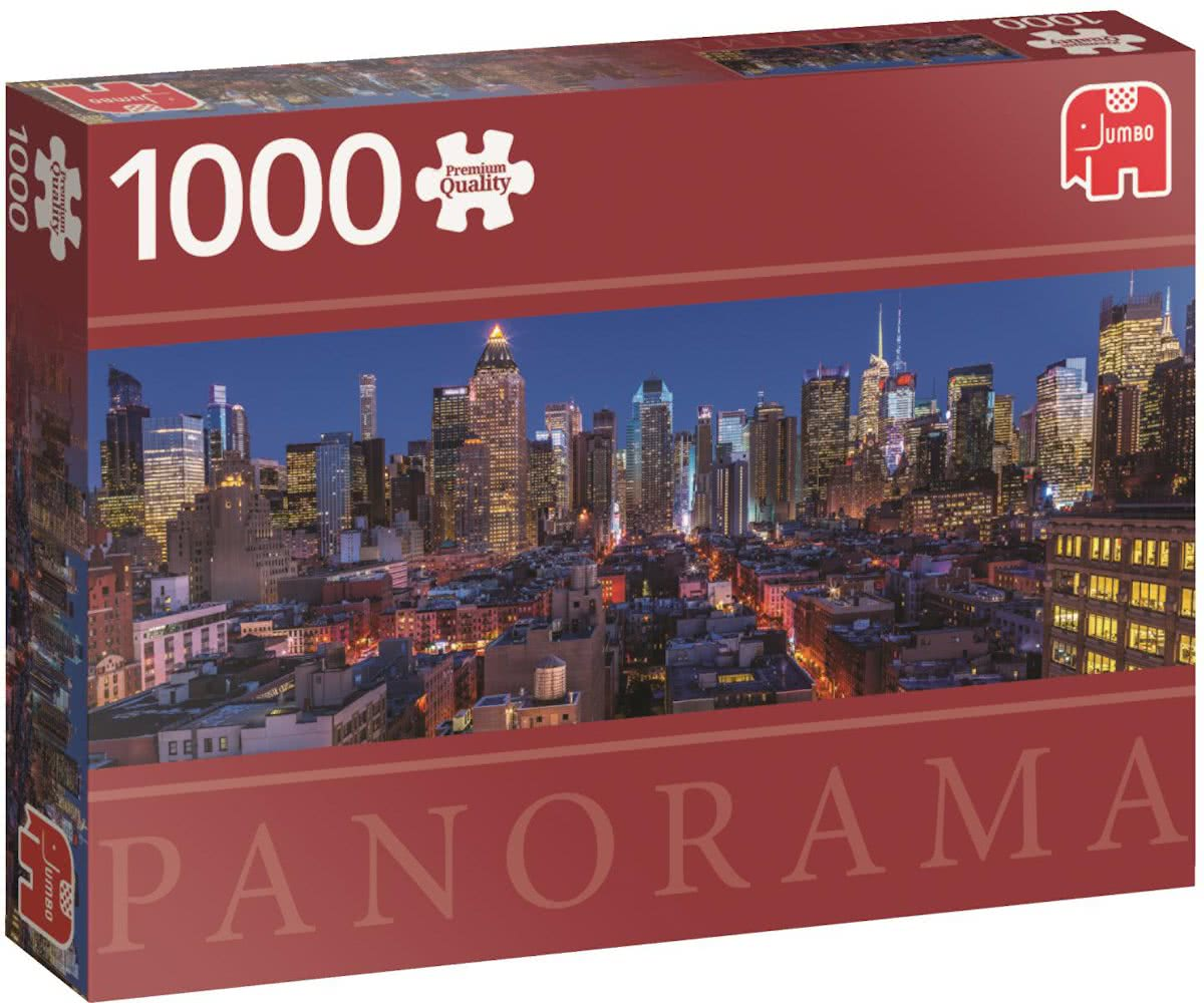 New York Skyline Premium Quality panorama Puzzel 1000 stukjes