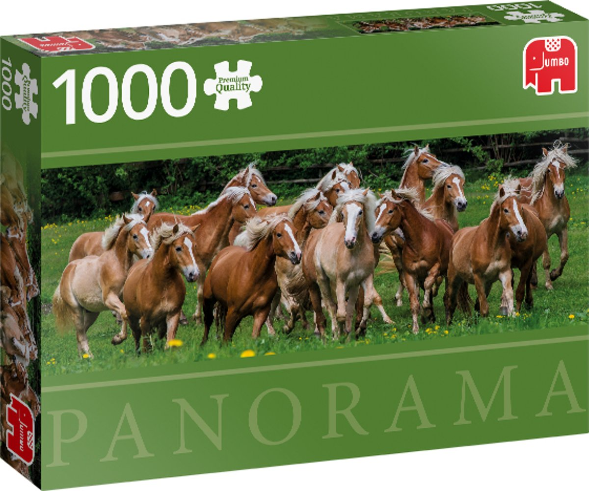 PC Haflinger Horses 1000 pcs panorama